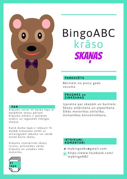 BingoABC krāso skaņas