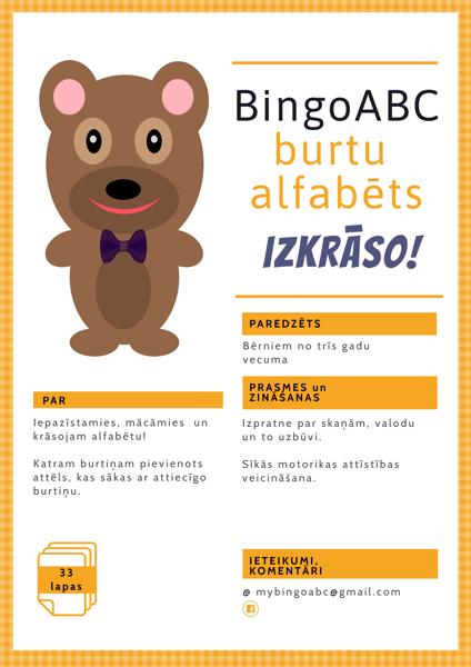 BingoABC burtu alfabēts - izkrāso