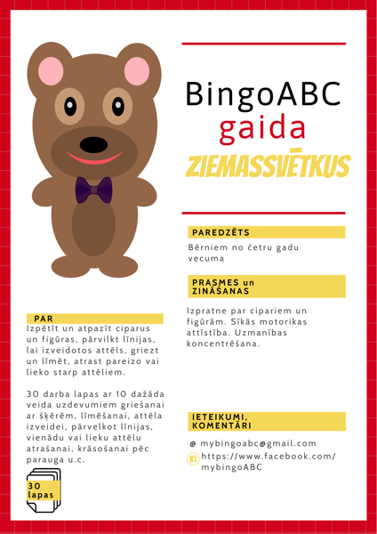 BingoABC gaida Ziemassvētkus